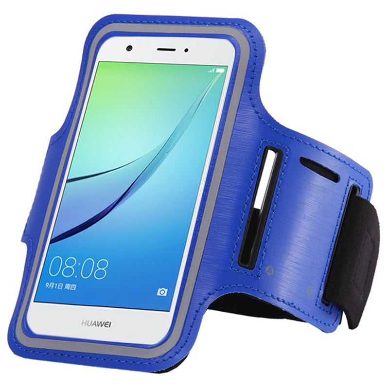 Leather GYM Belt For Xiaomi Mi Note 2 Mi Note 3 Mix 2 Running Arm Reflective Band Brassard Sport Case Cover Mobile Phone Carcasa
