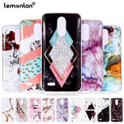 Lemonlan Glossy Marble Phone Case For LG K8 K10 2018 Case For LG G7 V30 K10 2017 Cover Soft TPU Cases Cute Coque