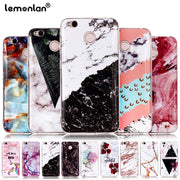 Lemonlan Marble Case For Xiaomi Redmi Note 5 Pro Case For Redmi 4X 5A 5 Plus 5Plus Cover Cartoon Cases Soft TPU Silicone Coque