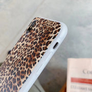 Leopard Print Soft TPU Phone Case For Iphone XS Max X XR Scrub Silicone Case For Iphone 7 7Plus 6 6s 8 Plus Non-slip Case Coque