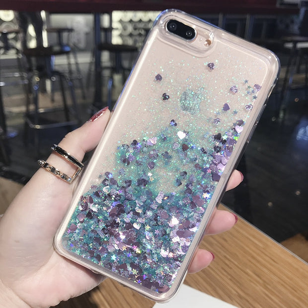Liquid Glitter Phone Case For Huawei Y6 2018 Case Clear Silicone Soft TPU For Coque Huawei Y6 Prime 2018 Back Shell Cover Capa