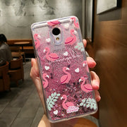 Love Heart Stars Glitter Stars Phone Case For Meizu M3 Mini M3S M5 M5S M6 Note Dynamic Liquid Quicksand Soft TPU Back Cover