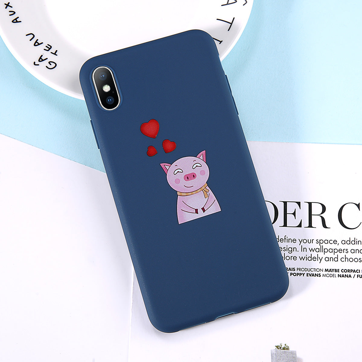 Lovebay Phone Case For Iphone 6 6s 7 8 Plus X Xr Xs Max Fashion Cute Cartoon Animal Dog Pig Soft Tpu For Iphone X Phone Cover