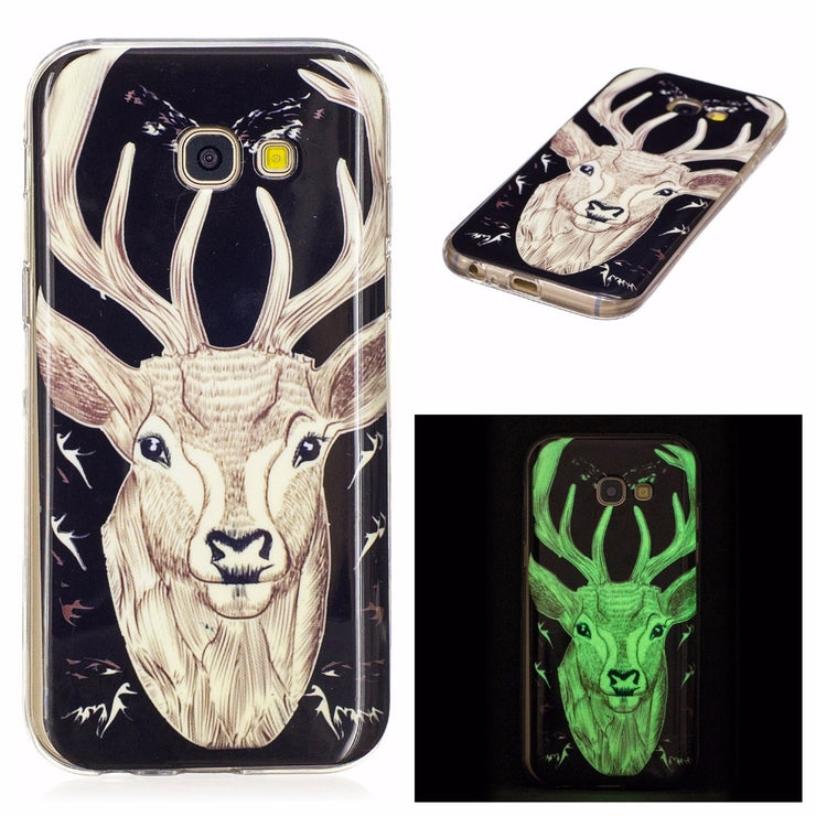 Luminous Case For Samsung Galaxy A3 A5 2017 A320F A520F Slim Phone Case Soft TPU Silicone Cover