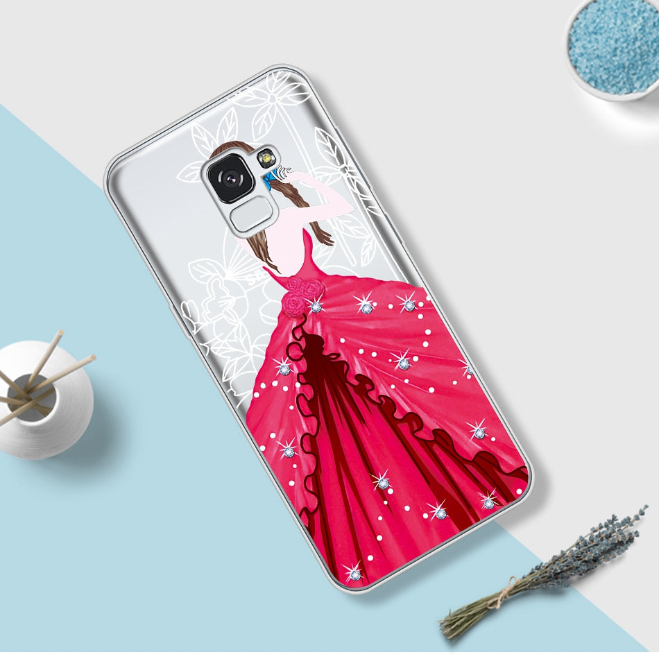 Luxury Beatuy Girl Cases For Samsung Galaxy A8 2018 Case Cover For Samsung A8 Plus 2018 Coque For Galaxy A3 A5 2017 A320F A520F