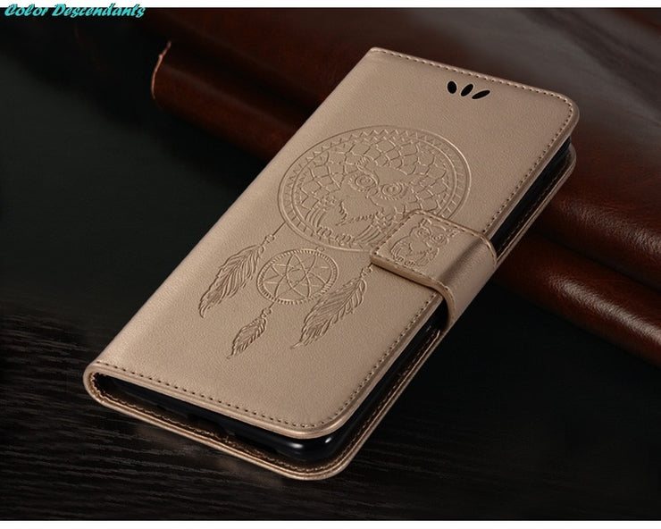 Luxury Cover SFor Huawei P9 Lite Mini Case Wallet Flip PU Leather Cover Cases For Huawei Y6 Pro 2017 Cell Phone Bag With Stand
