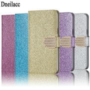 Luxury Fashion Sparkling Case For Motorola Moto C Plus Cover Flip Book Wallet Design