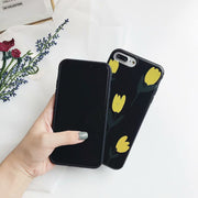 Luxury Flower Case For IPhone 7 8 Plus 6 S 6s Cartoon Leaf Soft Silicon TPU Back Cover For IPhone X 10 5s 5 S SE Fundas Coque