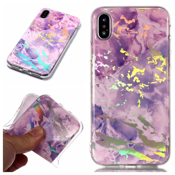 Luxury Laser Marble Phone Case For Iphone Xs Max TPU Soft 360 Back Cover For Iphone Xr Xs Max Case Silicone For Iphone Xs Cover