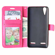 Luxury Leather Case For Lenovo A6000 Phone Bag Wallet Flip Case For Lenovo K3 K 3 A 6000 Lemon K30-T Skin Cover With Card Holder