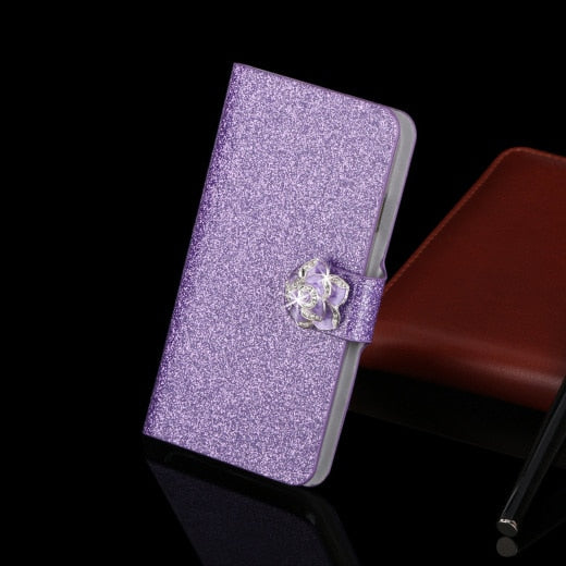 Luxury Leather Case For Samsung Galaxy J7 Prime SM-G610 Fundas Phone Cover For Samsung Galaxy J7 Prime Flip Stand Capa Coque