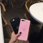 Luxury Love Heart Phone Case For IPhone 8 8 Plus 7 7 Plus 6 6s 6 Plus Case Protection Back Cover Fundas Coque