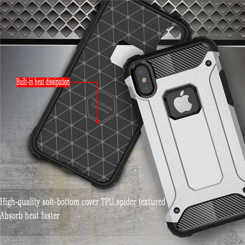 Luxury Phone Case For IPhone X Cover For IPhone 8 Case Armor Shockproof Silicon Cover For IPhone 7 6s 6 Plus 8 Plus Cases Skin