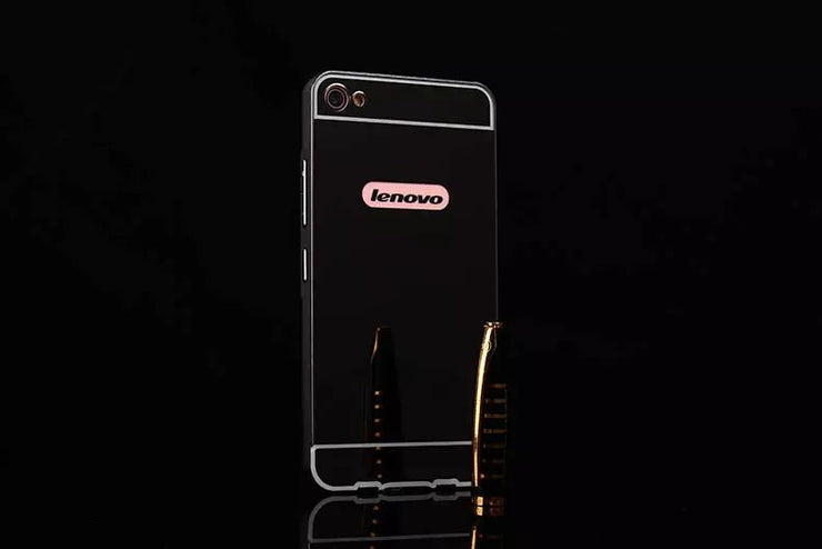 Luxury Plating Mirror Aluminum Metal Bumper + Acrylic Alloy Plastic Back Phone Cases For Lenovo S60 S60t S60-t S60-w Cover Capa