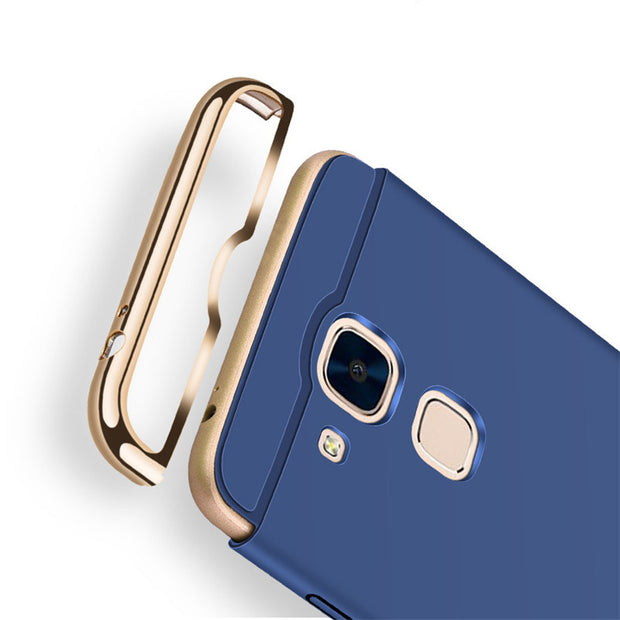 Luxury Protective Back Cover For Huawei Mate 7 Case 3 In 1 Hard Plating Hybrid Case For Huawei Mate 7 Mate7 Phone Case