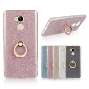 Luxury Ring Holder Case For Xiaomi Redmi 4 4X 4A Pro Glitter Back Cover Metal Stand Capa Para Etui Coque Fundas Hoesjes Capinhas