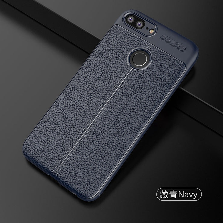 Luxury Soft TPU Case For Huawei Honor 9 Lite Leather Design