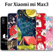 Luxury Tempered Case Capa For Xiaomi Mi Max3 Case Hard PC Frame Hard Cover For Xiaomi Mi Max 3 Case Mimax3 Cases Phone Shell