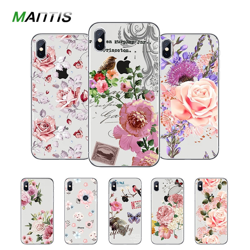 MANTIS For Iphone 7 Case Cvoer For Iphone 5s Soft TPU Silicone Case Full Fitted Case For Iphone 6 6s 8 8 Plus X Back Case Coque