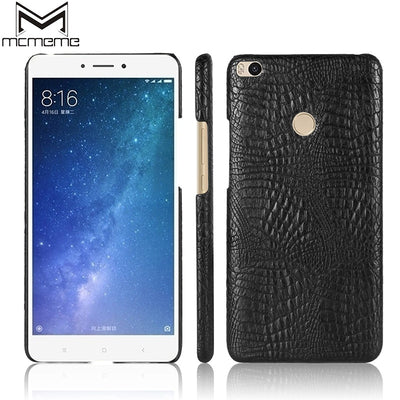 MCMEME Case For Xiaomi Mi Max 2 Case Cover 6.44 Inch PU Leather Hard Back Cover Phone Case For Xiomi Xiaomi Mi Max 2 Back Bag