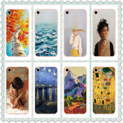 MISSCASE Phone Case For Iphone X 7 6s 8 Plus Soft Silicone Van Gogh Star Print Cover Fitted Case For IPhone 5 5S SE X 6 7 Case