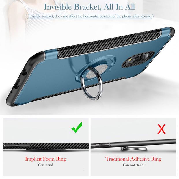 Magnetic Absorption Case For Samsung Galaxy C7 2017 Detachable 360 Degree Finger Ring Hard Cover SFor Samsung C7 2017 SM-C7100