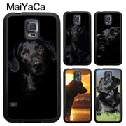 MaiYaCa Black Labrador Retriever Animal Dog Case For Samsung Galaxy S9 S8 Plus S4 S5 S6 S7 Edge Note 8 5 4 TPU Cover Skin Shell