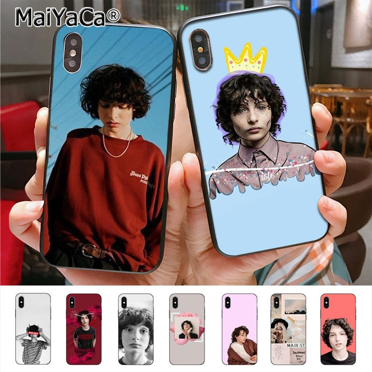 finest selection 5e79d 85a8b MaiYaCa TV Finn Wolfhard Stranger Things On Sale Luxury Cool Phone Case For  IPhone X XS XR XS MAX 7plus 6 6s 7 8 8Plus 5 5S Case