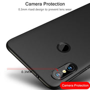 Matte Case For Xiaomi Redmi Note 6 Case Silicone TPU Luxury Bumper Protective Back Shock Prooft Cover On For Redmi Note 6 Case