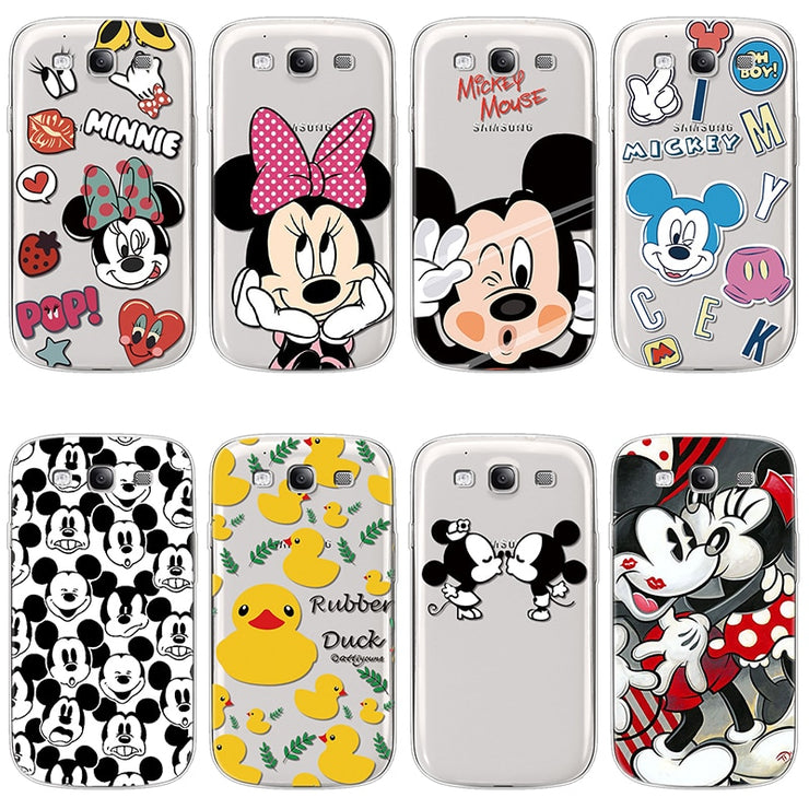 a2ec7e307cb Minnie Mickey Couple Soft Cases For Funda Samsung Galaxy S3 Neo I9300I Case  For Samsung Galaxy