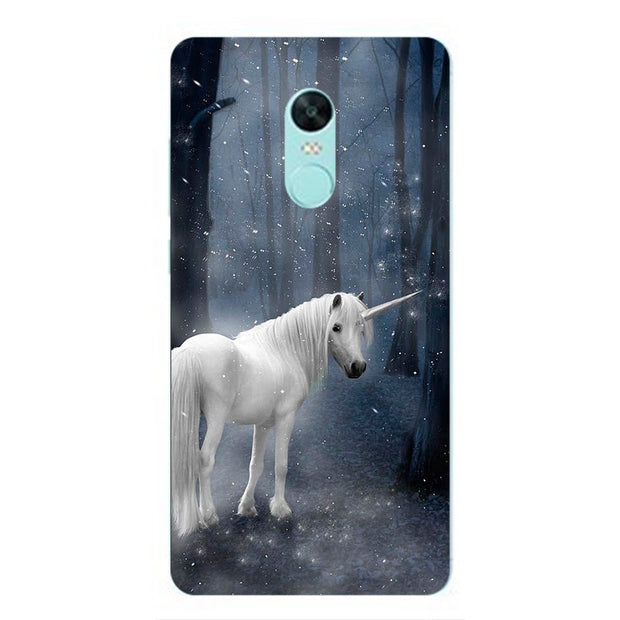Myth Unicorn Horse Soft Silicone Painting Case For Xiaomi Redmi 5/5 Plus Note 4 4X 5A Prime Y1 Lite Smart Phone Printed Cover