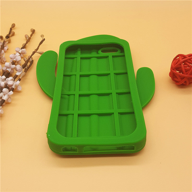 "NEW 3D Cartoon Plant Cactus Cacti Case Soft Silicone Cover For Apple IPhone SE 5 5S 6 6S 7 8 4.7"" Plus 5.5"" Rubber Phone Shell"