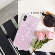 NEW Beauty Conch Shell Phone Case For Iphone X Case For Iphone 6S 6 7 8 Plus Cases Fashion Soft TPU Cover High Quality Capa