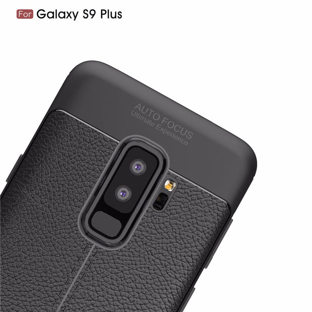 NEW Luxury Soft TPU Litchi Dermatoglyph Leather Texture Anti-Skid Cover Case For Sansung Galaxy S9 S8 Plus S7edge Note8