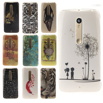 New Arrival Fashion Case For Motorola Moto X Style / Moto X Pure Edition Hot Sale More Style TPU IMD Slim Silicone Soft Cases