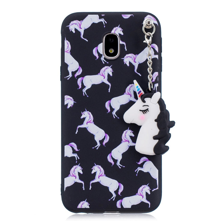 New Cartoon Pendant Doll Unicorn Case For Samsung Galaxy J5 2017 J520 J3 2017 J330 J7 2017 J720 European Version Case Back Cover
