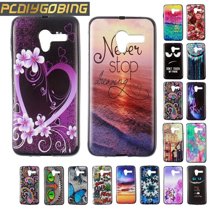 "New Color Painting Fundas Capa Cover For Pop3 5.0"" Cool Gel Soft TPU Silicone Phone Case For Alcatel One Touch Pop 3 5.0inch"