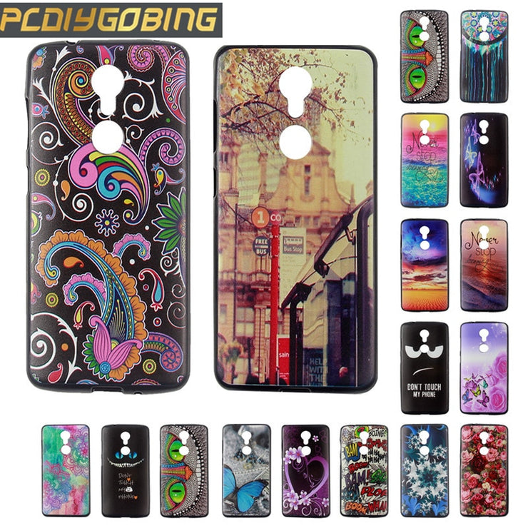 New Color Painting Fundas Capa Cover For ZTE Axon7 Mini Cool Gel Soft TPU Silicone Phone Case Cover For ZTE Axon 7 Mini