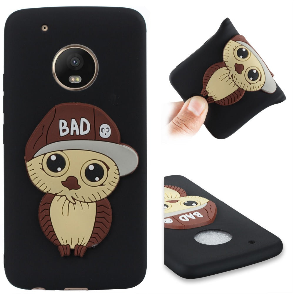 New Style Case For Motorola Moto G5 G5Plus CPlus E4Plus Male Owl Pattern With Hat Cover TPU Phone Cases Cover