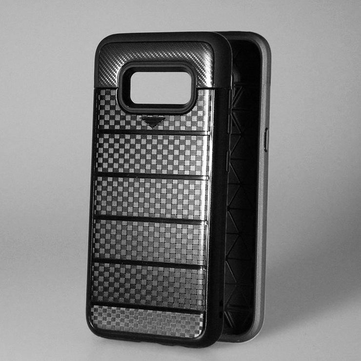 OCWAVE Case For Samsung Galaxy S8 PC Anti Shock Impact Brushed Texture Stand Card Slot Cover Net Hot Fashion