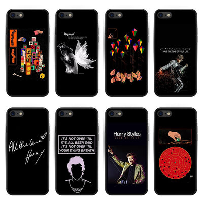 One Direction Tattoos Harry Styles Phone Case For IPhone X (5.7) 5 5S SE 6 6SPlus 7 8 Plus XR XS Max Soft Black Silicone Cover