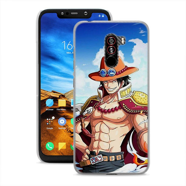 One Piece Luffy For Pocophone F1(6.18 Inch) Hard PC Phone Case For Poco F1 Mobile Phone Bag Cover Fundas Coque