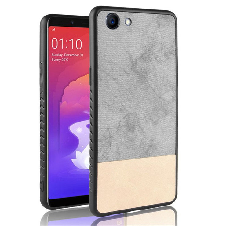 new product f532c da805 Oppo F7 Youth Case Oppo F7 Youth Silicone Edge Fabric Shockproof Back Cover  Cowboy PU Leather For Oppo F7 Youth CPH1859 Case