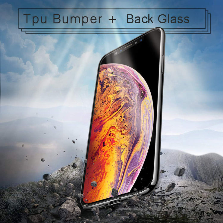 Oppselve Tempered Glass Phone Case For IPhone X Xs Max Transparent Protective Glass Cases For IPhone X S XR Cover Coque Capinhas