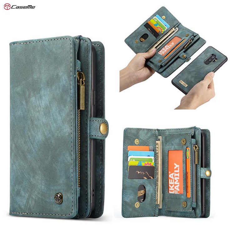 Original Luxury Genuine Leather Case For Samsung S9 Plus Case Wallet Flip Phone Bag Cases Leather Coque Black Green Red