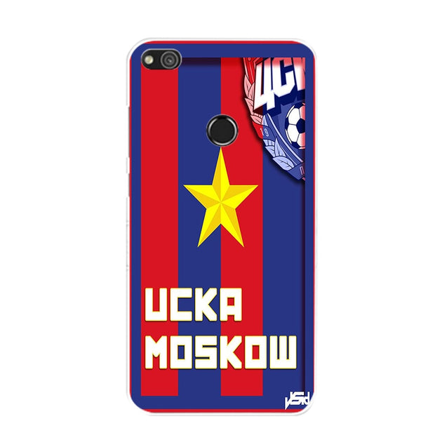 PFC CSKA Moscow Logo Soft Silicone Painting Case For Huawei P8 Lite 2017/P9 Lite 2017/GR3 2017/Honor 8 Lite Phone Printed Skin