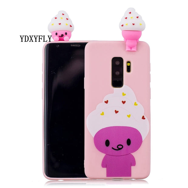 Painted Cartoon Shockproof Case For Samsung Galaxy S6 S7 Edge Note 8 Protective Soft TPU Back Cover Case For Galaxy S8 S9 Plus