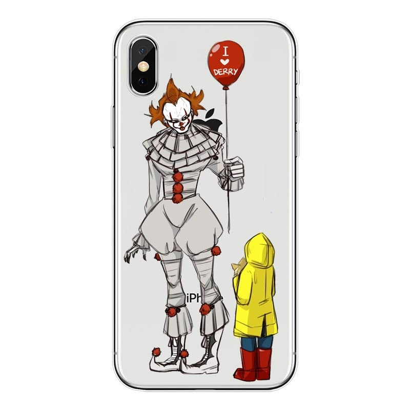 Pennywise Float It Cartoon Comic Soft Phone Case Cover Fundas Coque For IPhone 8 7Plus 6SPlus SE X Cute Cartoon Cover