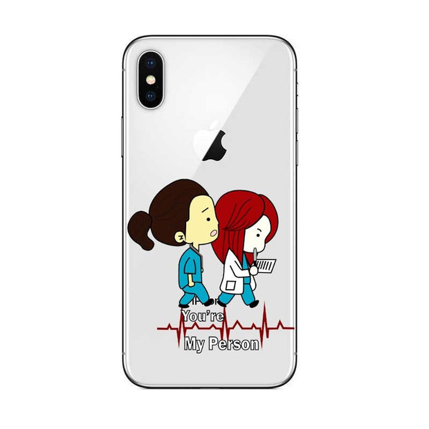 Phone Case Greys Anatomy You Are My Person For IPhone X 10 5s Se 6 6S 7 8 Plus High Quality Clear Soft TPU Silicone Coque Cover