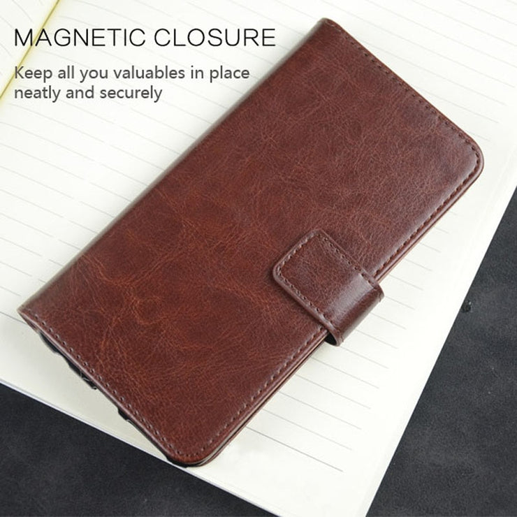 Pierves Card Slot Wallet Leather Case Silicone Bumper Luxury Filp Stand Cover For Xiaomi PocoPhone F1 Redmi Note 6 7
